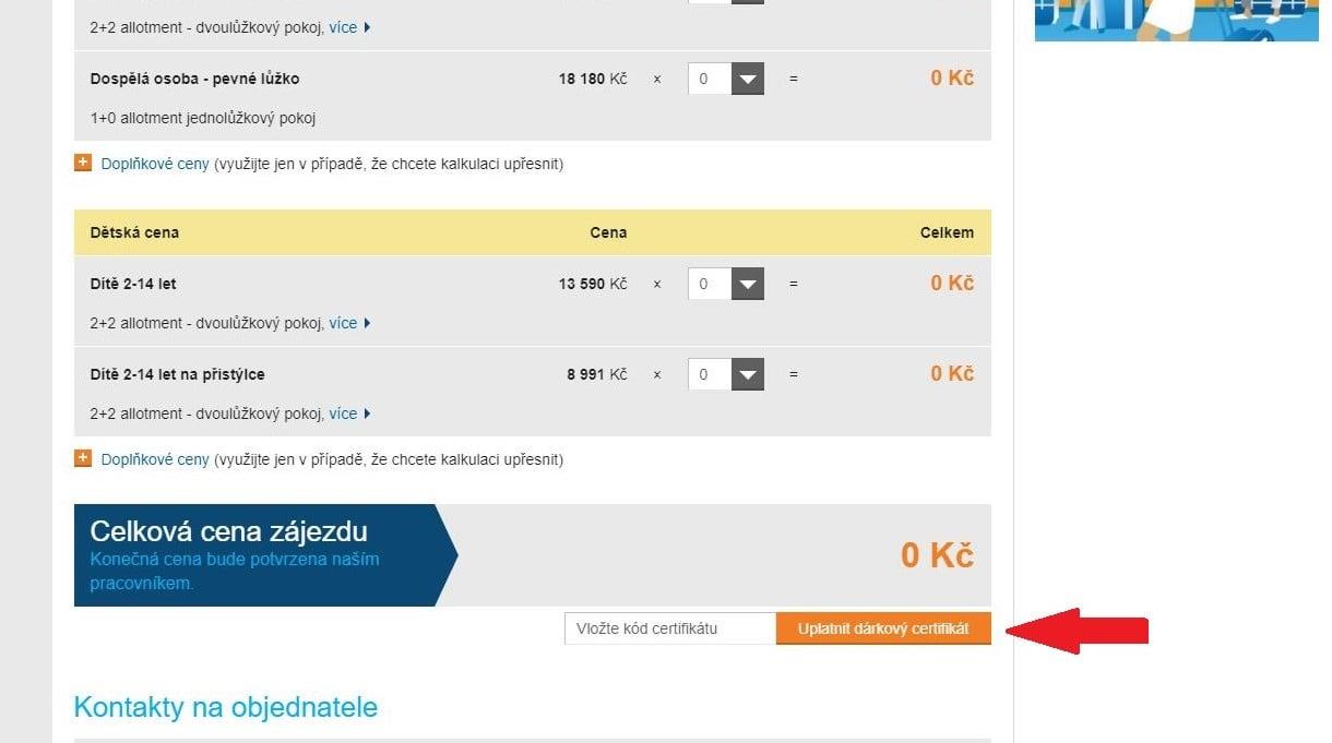 Obrázek portálu Invia.cz, kde můžete uplatnit slevy