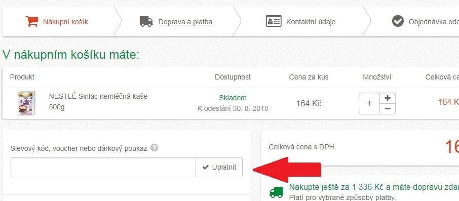 Obrázek portálu Lekarna.cz, kde můžete uplatnit slevy
