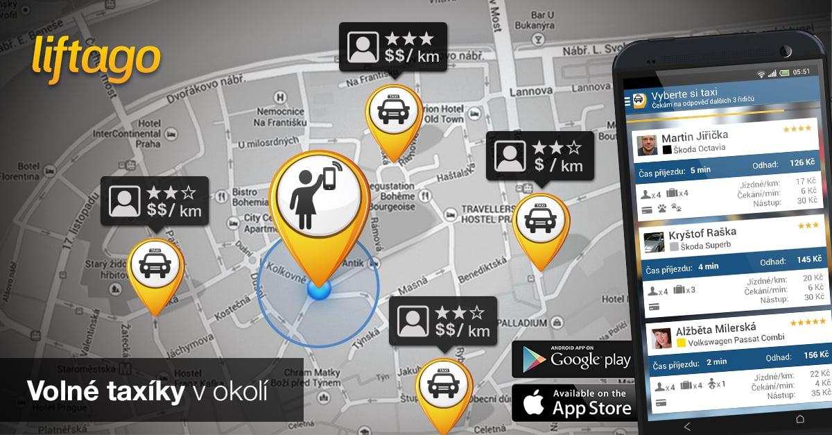 Liftago - objednejte is taxi a využijte promokód