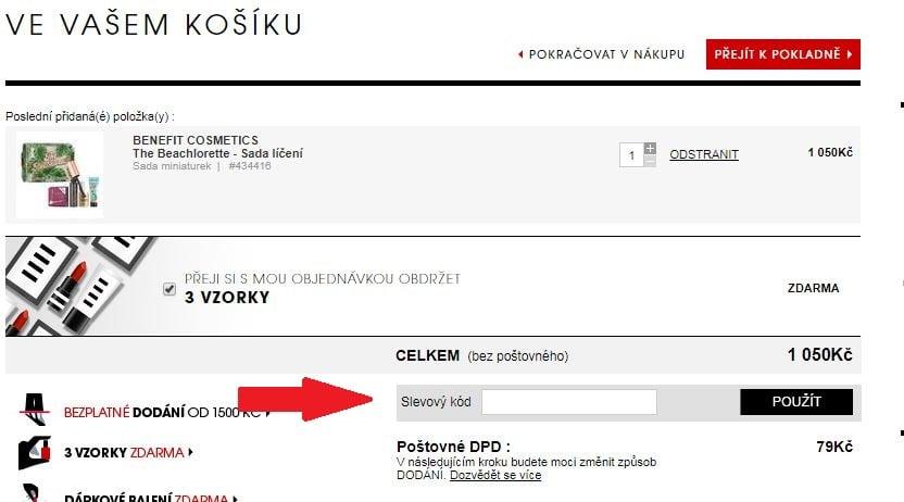Obrázek portálu Sephora.cz, kde můžete uplatnit slevy
